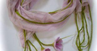 Filzschals - Schal Nunoschal Blumen.. - ein Designerstück von Filz-Art bei DaWa...