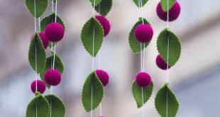 Flower Baby Mobile/Felt Flower Mobile/ Flower chandelier nursery mobile /Elegant Bedroom Decor/ Baby