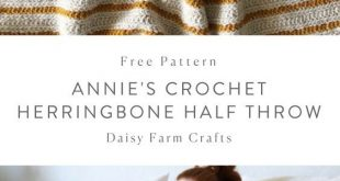 Free Pattern - Annie's Crochet Herringbone Half Throw #crochet