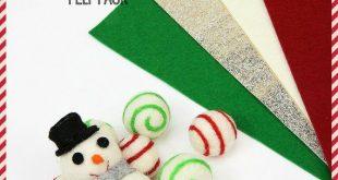 HAPPY HOLIDAYS Felt Pack // Christmas Wool Felt // Christmas Felt // Holiday Variety Pack // Felt Gi