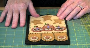 Halloween Cats & Jacks Penny Rug and Penny Pocket Tutorial