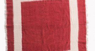Hand woven Wool Blanket Red tamar mogendorff 2019 Hand woven Wool Blanket Red...