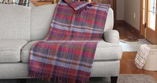 Irish Blankets 100% Wool Throw Plaid Lifetime Quality Made in Ireland