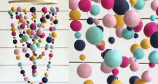 Large Looped Felt Ball Mobile - Party Fun - Nursery Mobile - Mobile - Free Shipping USA | Pom Pom Mobile