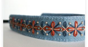 MOVING SALE 40% OFF ø Wool Felt Headband ø Hand Embroidered ø LoftFullOfGoodies