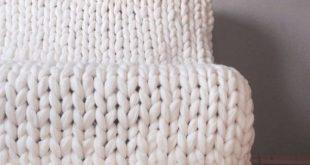 Merino Wool Blanket, Cozy Chunky Merino Wool Yarn Blanket, Arm Knitted Blanket, Hypoallergenic Blanked, Accent Blanked, Chunky Wool Yarn