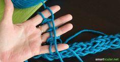 Mit der Hand stricken - das können sogar Kinder