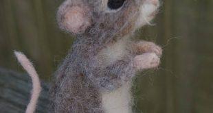 Nadel gefilzt Maus, bewegliche realistischen lebensgroßen