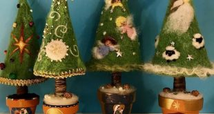 Needle felted Christmas tree, Waldorf inspired, Pine, Evergreen tree, Christmas ornament, wool Christmas tree