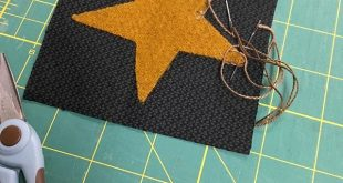 New mini tutorial in wool appliqué. Stitching those points and interior angles!...