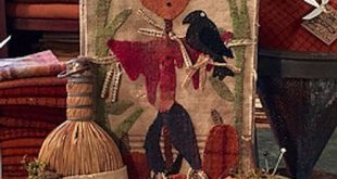 "Pattern: ""Scare-Crow"" Wool Appliqué by 1894 Cottonwood House"
