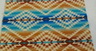 """Pendleton Wool Blanket FREE SHIPPING on three items or more:) """"REMNANT"""" New Tribal Fabric 21"""" X 18"""""""