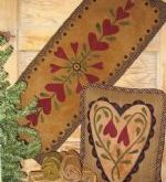 Penny Rugs - Winterberry Cabin, Hand-dyed Felted Rug Hooking Wool, Wool Applique...