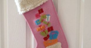 Pink Wool Appliqued Christmas Stocking Garnet Hill