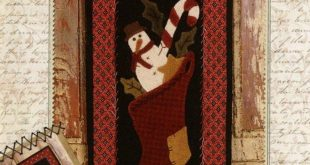 Primitive Folk Art Wool Applique Banner Pattern: MARCH BANNER - Design by Stacy West
