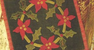 Primitive Folk Art Wool Applique Christmas by PrimFolkArtShop $13.75  2019  Prim...