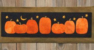 Pumpkin Harvest Wool Applique PATTERN by cabincreek on Etsy