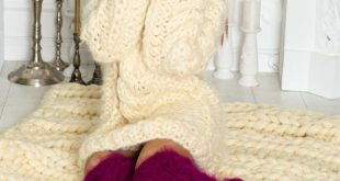 Ready to Ship Merino Wool Blanket 60 x 80 , Hand Knittted Throw, Giant Blanket, ...