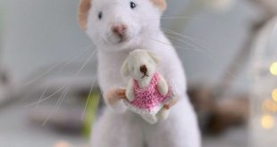 Realistic rat needle felted mouse Needle felt animals wool felted animal Needlefelting cute mice Felting doll Felt pets figurine ecofriendly