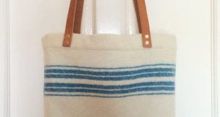 Recycled Blanket Tote Bag  2019  Recycled Blanket Tote Bag (Irish wool leather) ...