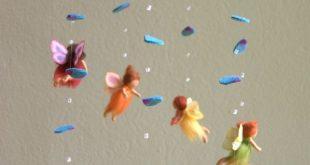 Regenbogen Feen Mobile - gefilzt, Waldorf inspiriert, Wolle, von Naturechild  #F...