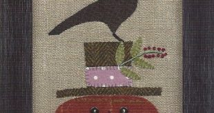 SALE Primitive Folk Art Wool Applique Pattern: HAPPY JACK 2019 SALE Primitiv 201...