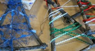 Stick and wool trees - another very simple but effective ornament.