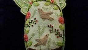 Summer Angel Wool Applique Doll Pattern