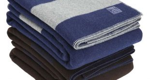 Summit Stripe Reversible Wool Blanket - All Sales Final