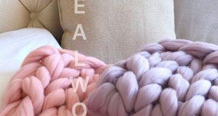 Super Chunky Knit Blanket, Chunky Knit Merino Wool Blanket, Giant Knit Blanket, Bulky Knit Blanket