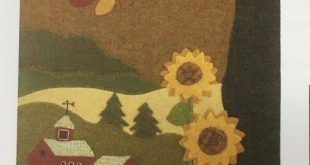 The Farm on Grange Hall Road  pattern for Wool Applique by Karen Hahn