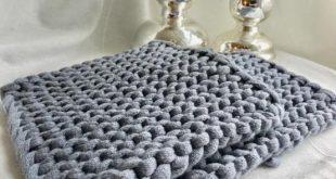 Topflappen aus Textilgarn stricken