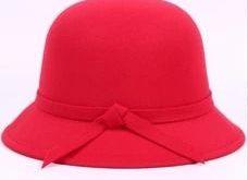 Vintage Solid Wool Felt Bowler Bowler/Cloche Hats