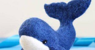 Whale Needle Felting Kit, Needle Felting Kit, Whale, Felting Kit, Needle Felted Whale, Felt Animals, Felting Wool, Needle Felting Kit
