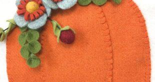 Wool Felt Pumpkin Banner Tutorial