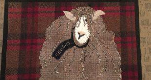 "Wool applique pattern "" Ewe love Willows"""