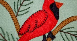 free pattern from Wee Folk Art - Cardinal Applique Block