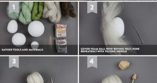 groß How to Make Felted Mini Pumpkins for Fall