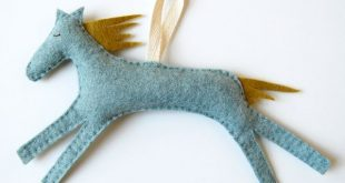 new work : hand stitched horses