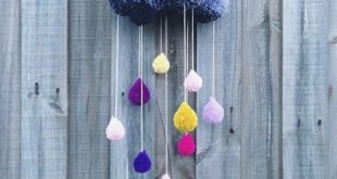 pom pom rain cloud decoration - #cloud #crafts #decoration #Pom #rain