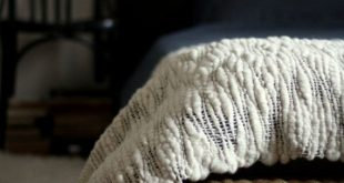 woven wool blanket Bed Runner chunky woven white blanket unique woven blanket ch...